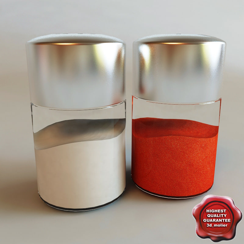 salt pepper shaker set c4d