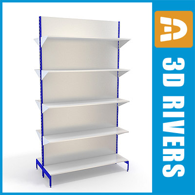3d supermarkets shelving shelf model