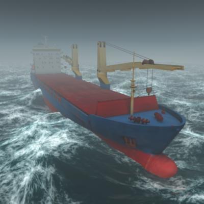 bbc cargo ship 3d model