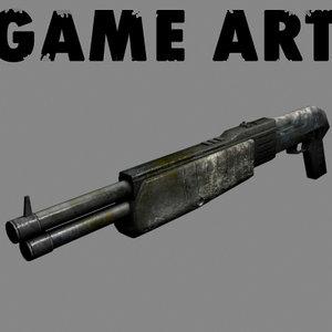 3d shot gun shotgun model