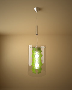 silhouette lamp 3d model