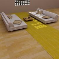 sofa set furniture 3d model