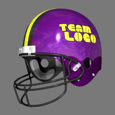 football helmet 3d lwo