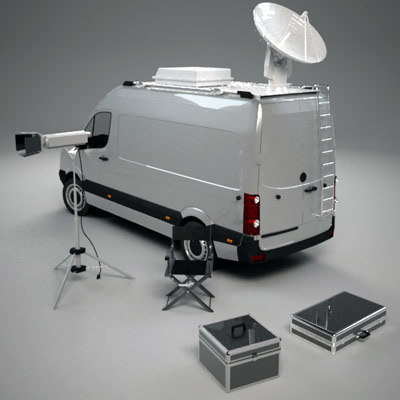 3d model broadcast van equipment