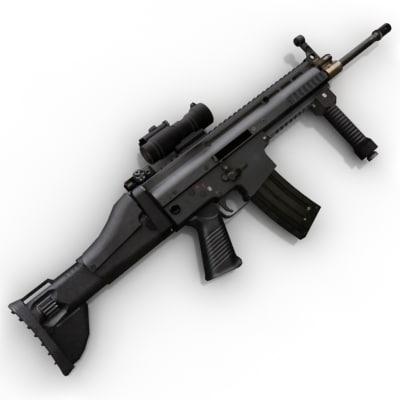3d model gun