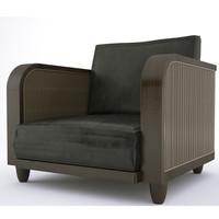 loungechair wicker chair 3d model
