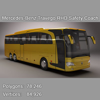 3d mercedes-benz travego rhd safety model