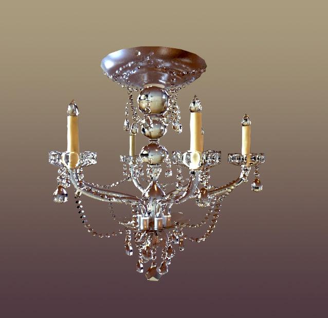 crystal light 3d model