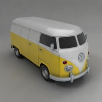 van wagon vehicle 3d model