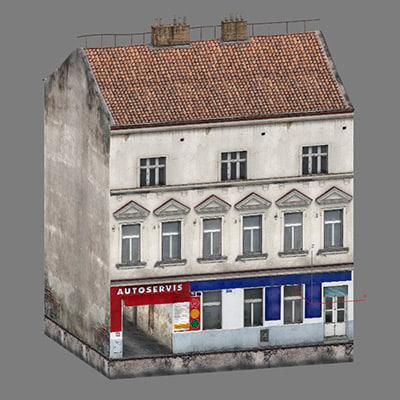 3ds max 2 buildings prague