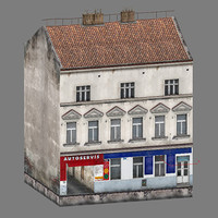 3ds max 2 buildings prague