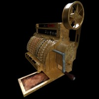 national cash register 3d model