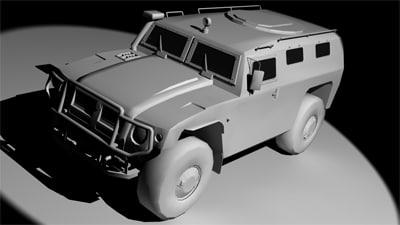 3d model gaz tigr 2330
