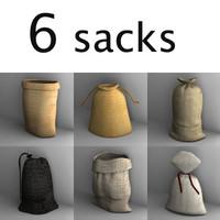 3d model sacks