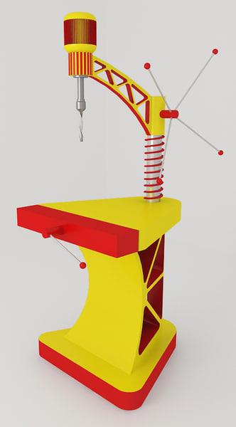 drilling machine 3d model