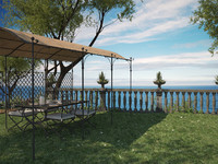 free-standing solaire pergola 3d model