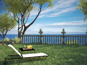 leandro sunlounger table toscana 3d max