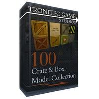 3d model of 100 crate box