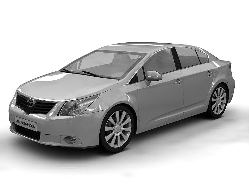 toyota avensis 3d model