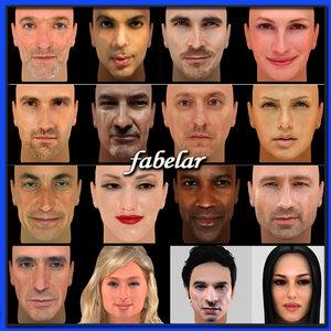 faces uv actors max