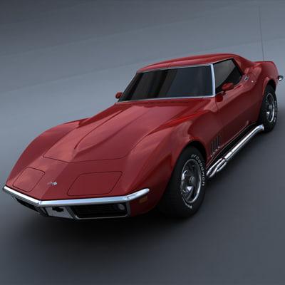 1969 chevrolet corvette 3d model