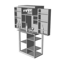 3d model bar