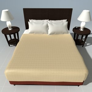 bed night stand 3d model