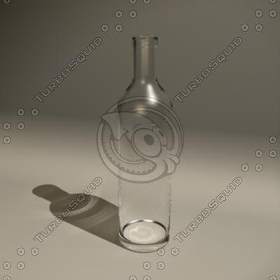 maya clear glass bottle