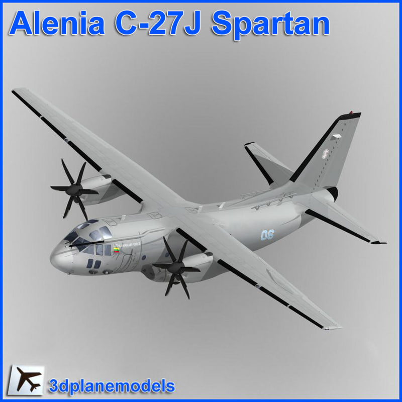 3d model alenia c-27j spartan lithuanian