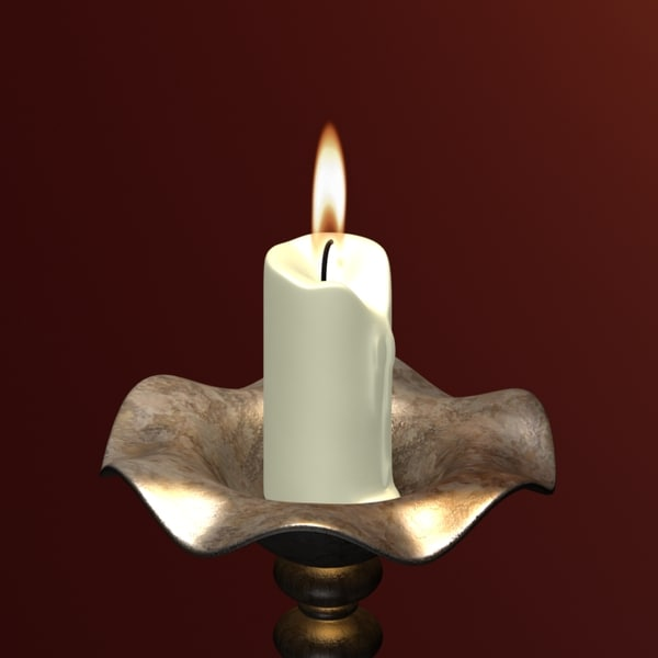 3ds candle candlestick