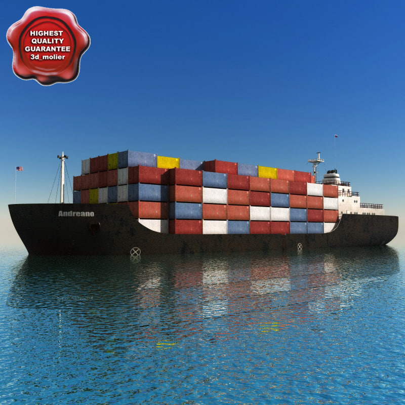 3d model of container vessel
