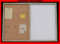 cork board double 3d obj