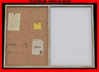 cork board double 3d obj