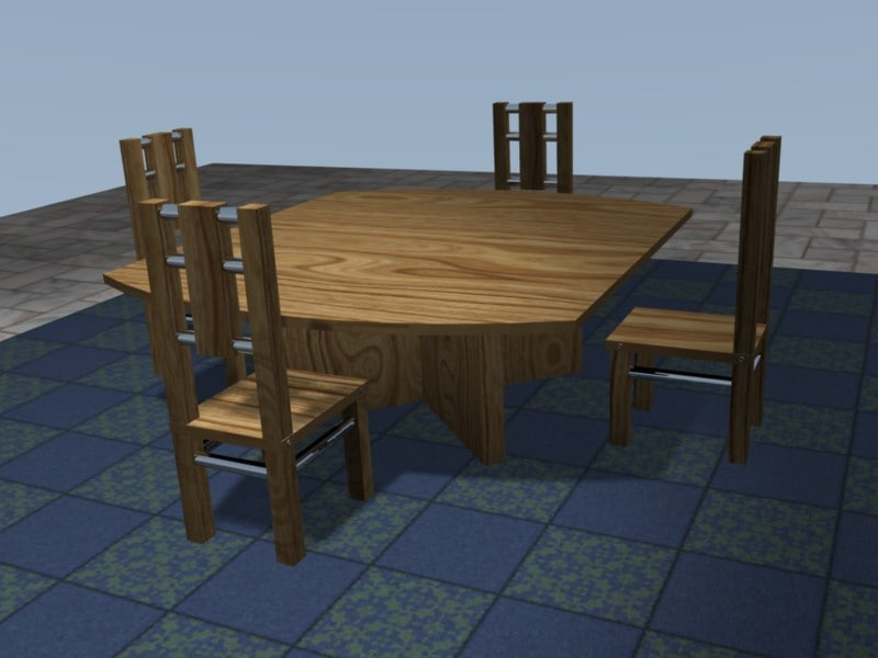blender dining table