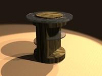 3d end table model