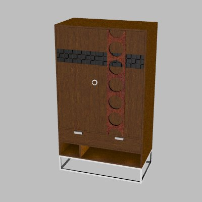 3d model doorchest