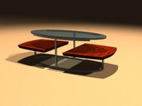 3d model cocktail table