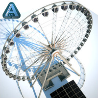 niagara sky wheel ticket booth 3d model