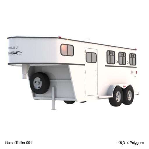 3dsmax horse trailer