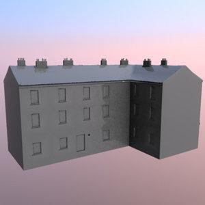 4 buildings prague 3ds
