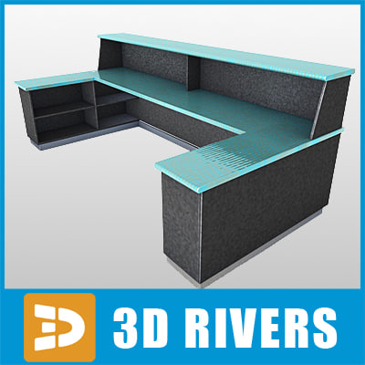 3d airport reception desk model