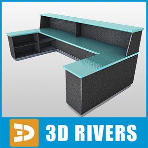 3d airport reception desk model