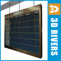 Airport indicator board by 3DRivers