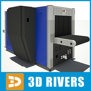 airport systems x-ray 3d model