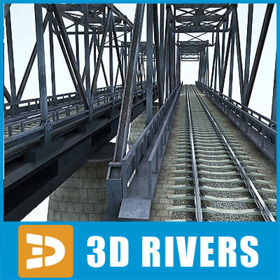 reinforced concrete bridge 3d max