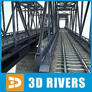 reinforced concrete bridge 3d max
