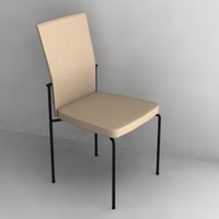 3d model of modern chair