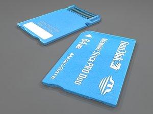 3d model sd memory card 64mb