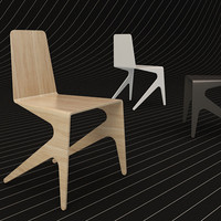 3d model of michael bihain mosquito chair