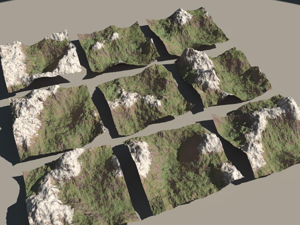 3d obj mountains